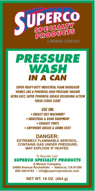 SUPERCO PRESSURE WASH (IN A CAN) AEROSOL