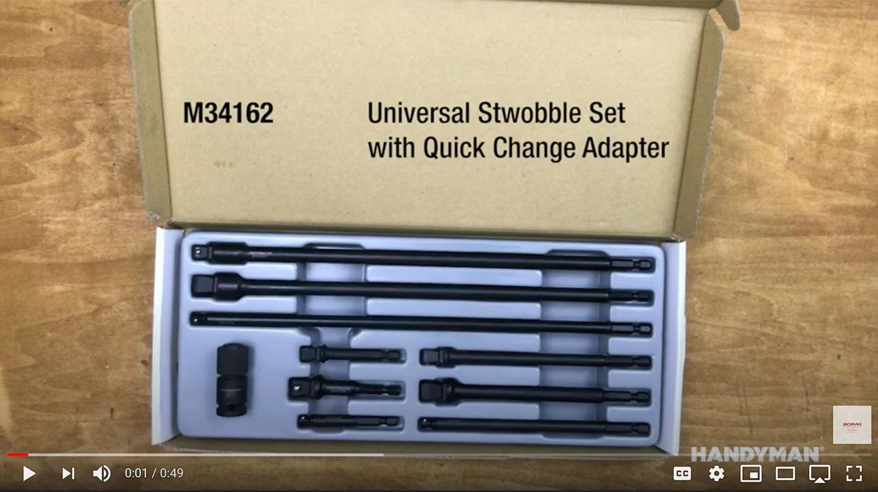 Handyman 10-Piece Universal Stwobble Set with Quick Change Adapter